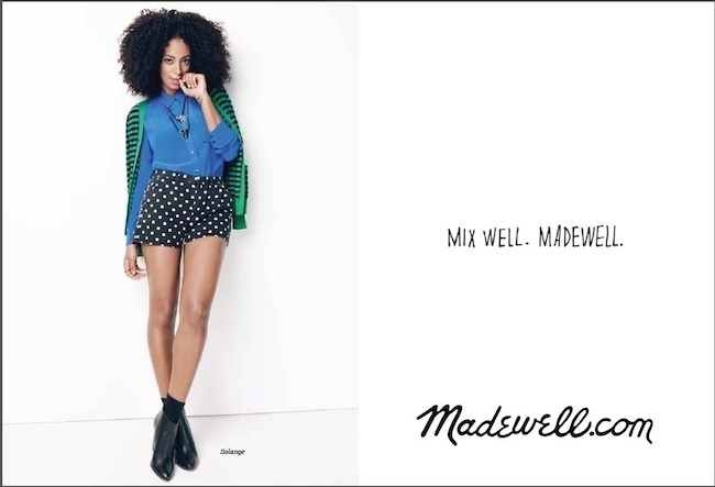 Campanha da Madewell para o Inverno 2012 com Solange Knowles