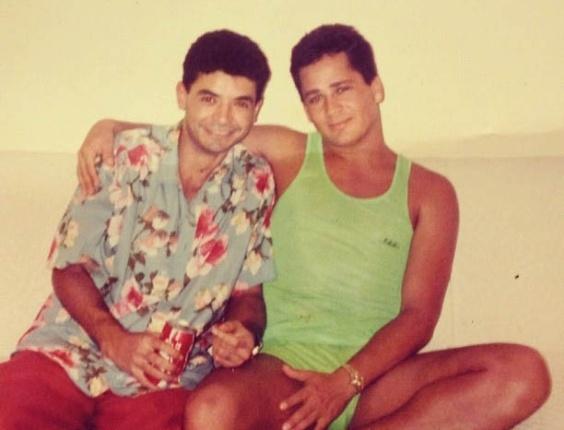 David Brazil divulga imagem antiga ao lado de Leonardo (10/8/2012)