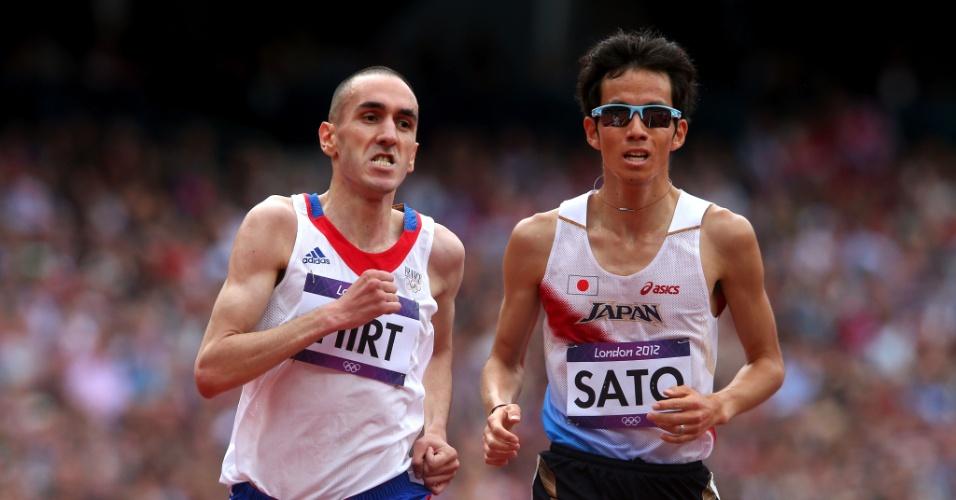 Francês Hassan Hirt, à esquerda, testou positivo para EPO nos Jogos de Londres