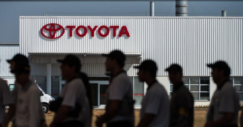 Orçada em US$ 600 milhões (cerca de R$ 1,2 bilhão), a nova fábrica da Toyota em Sorocaba (SP) já emprega cerca de 1.500 trabalhadores