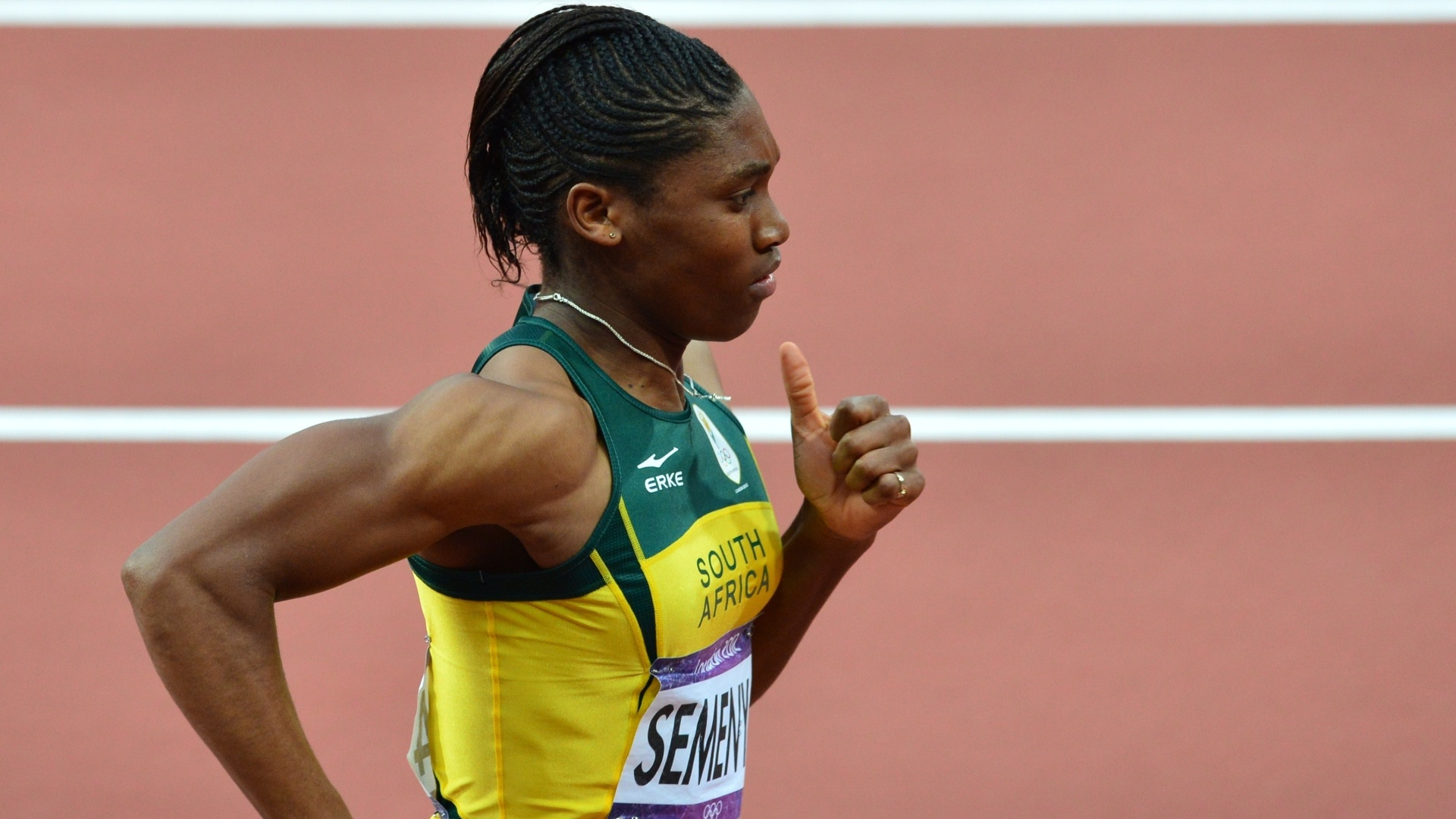 Caster Semenya na final dos 800 m