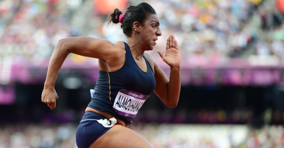 Síria Ghfran Almouhamad, que competiu nos 400 m com barreiras, foi pega no exame anti-doping de Londres
