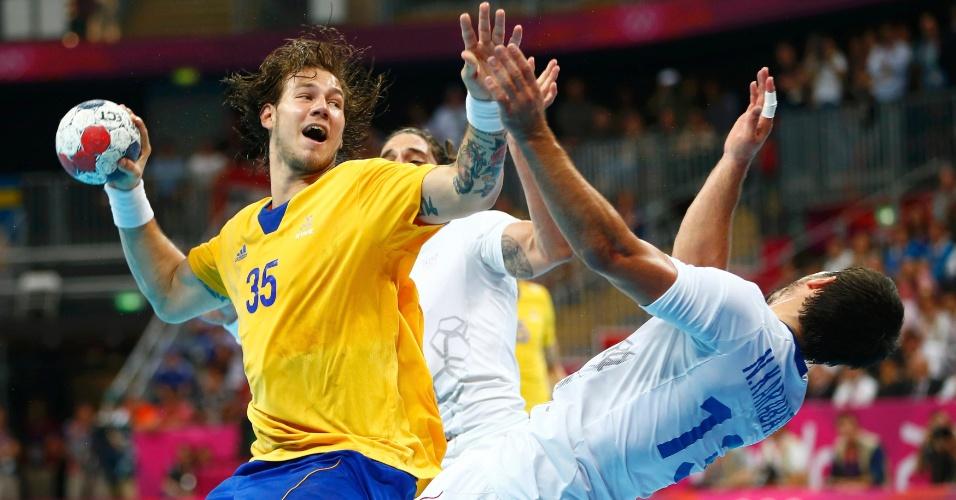 Andreas Nilsson, da seleção sueca de handebol