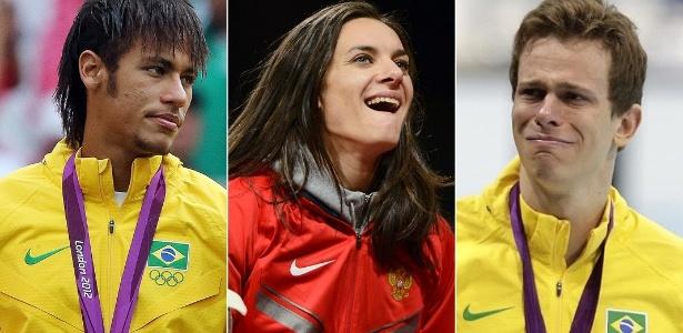 Neymar, Isinbayeva e Cielo: trio não conseguiu brilhar nos Jogos Olímpicos de Londres
