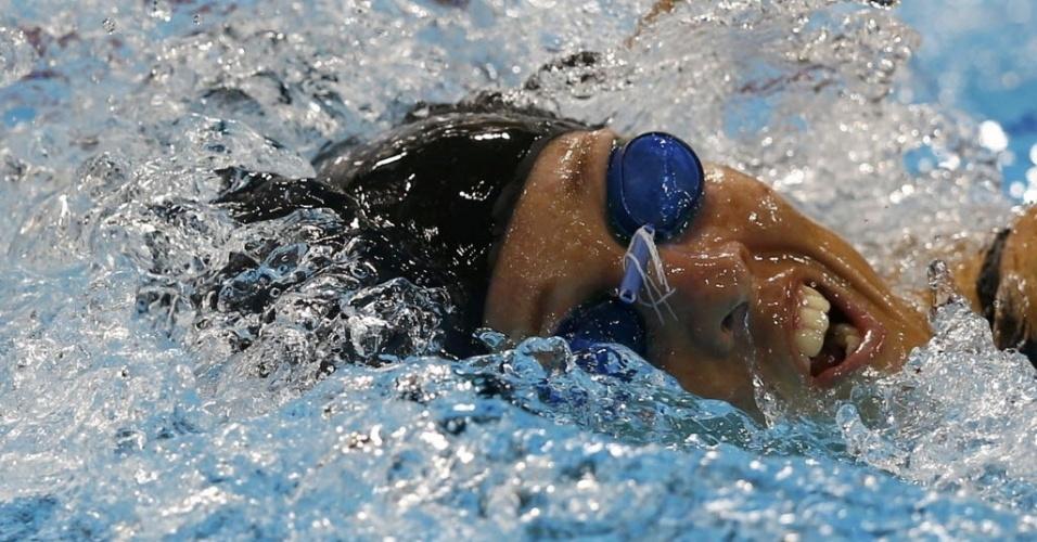 Yane Marques foi sexta em sua bateria na natação, mas melhorou seu recorde pessoal e subiu à vice-liderança do pentatlo moderno