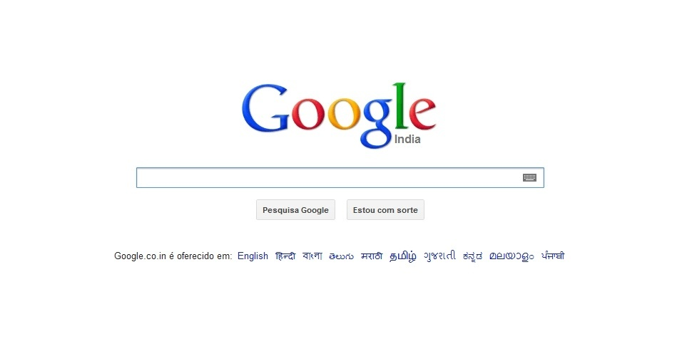 12&#186; - Google India: O site mais popular na &#205;ndia &#233; o buscador tamb&#233;m mais popular no mundo. Do ano passado para c&#225;, o Google &#205;ndia caiu uma posi&#231;&#227;o no ranking, mas ainda det&#233;m 4,76% das visitas de internautas