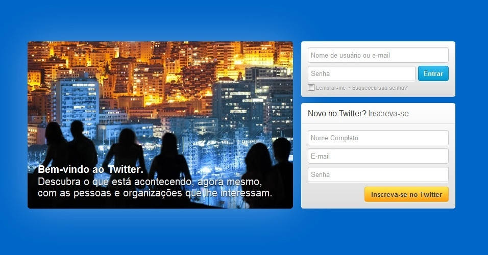 8&#186; Twitter: Outro site que subiu uma posi&#231;&#227;o entre os mais populares foi o microblog Twitter. Agora em oitavo lugar, o Twitter consegue 6,71% das visitas de usu&#225;rios de internet no mundo. Eles gastam, em m&#233;dia, nove minutos navegando no site