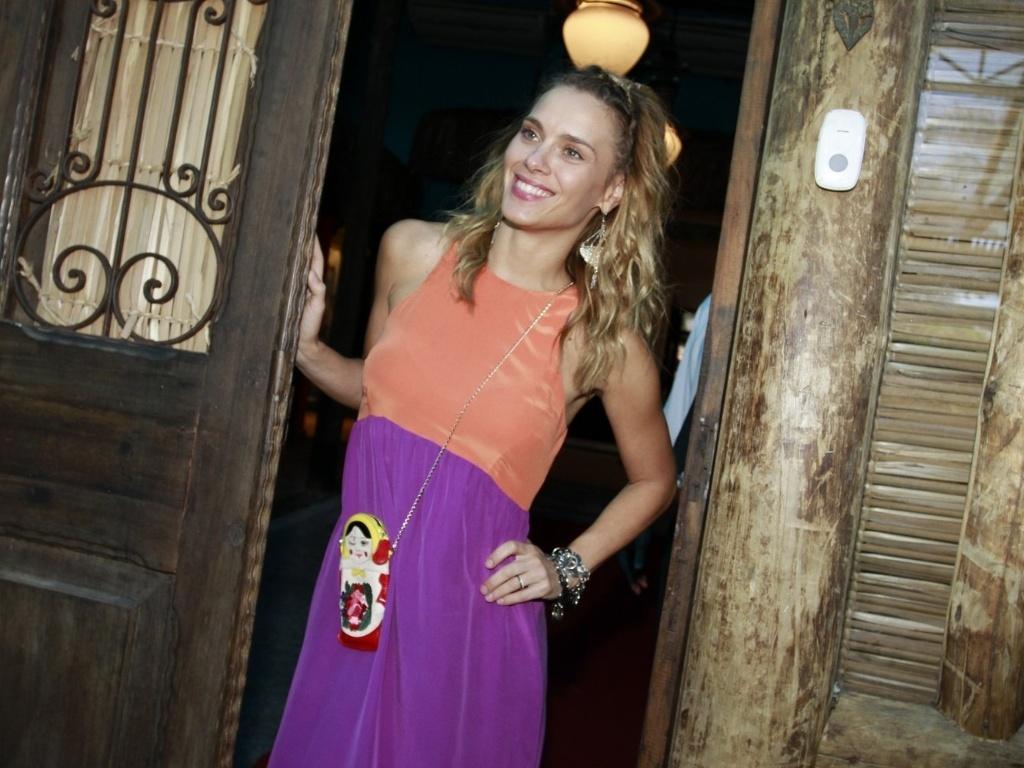 Carolina Dieckmann comemorou o aniversário de cinco anos do filho José em uma casa de festas na zona oeste do Rio (13/8/12)