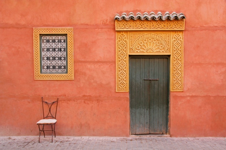 Casa marroquina, em Marrakech