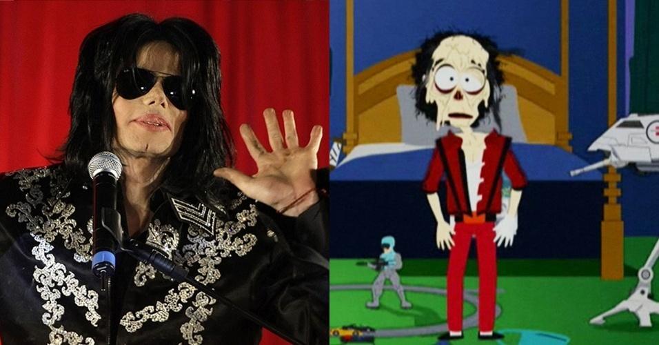 Compare desenho de Michael Jackson e foto do cantor (13/8/12)