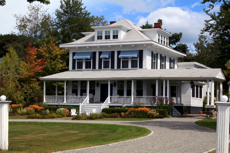 Estilo colonial americano em Kennebunkport, Maine