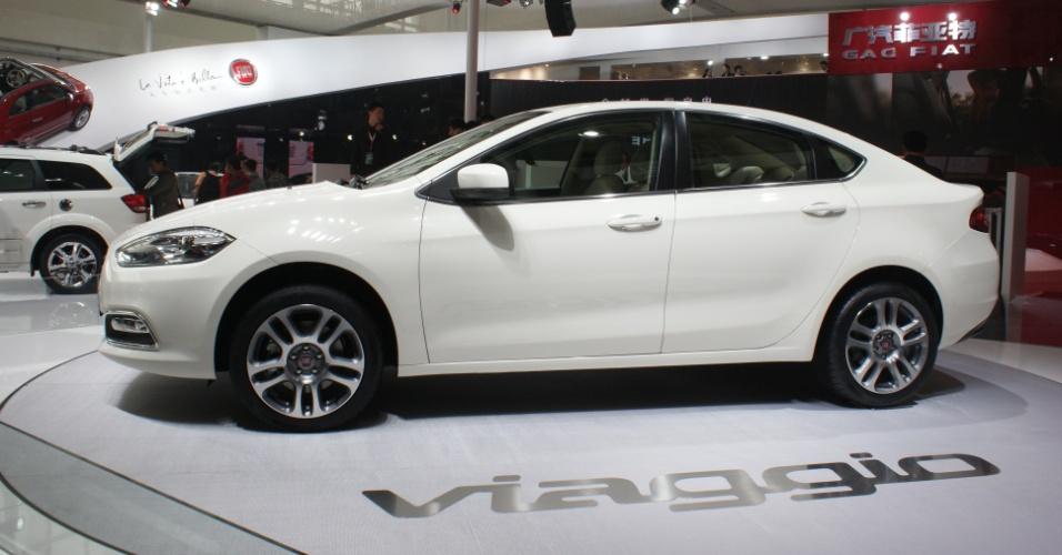 Fabricado na China desde o final de junho, em parceria com a local GAC, Viaggio ganha as lojas do país asiático em setembro para brigar com o VW Sagitar (o Jetta local)