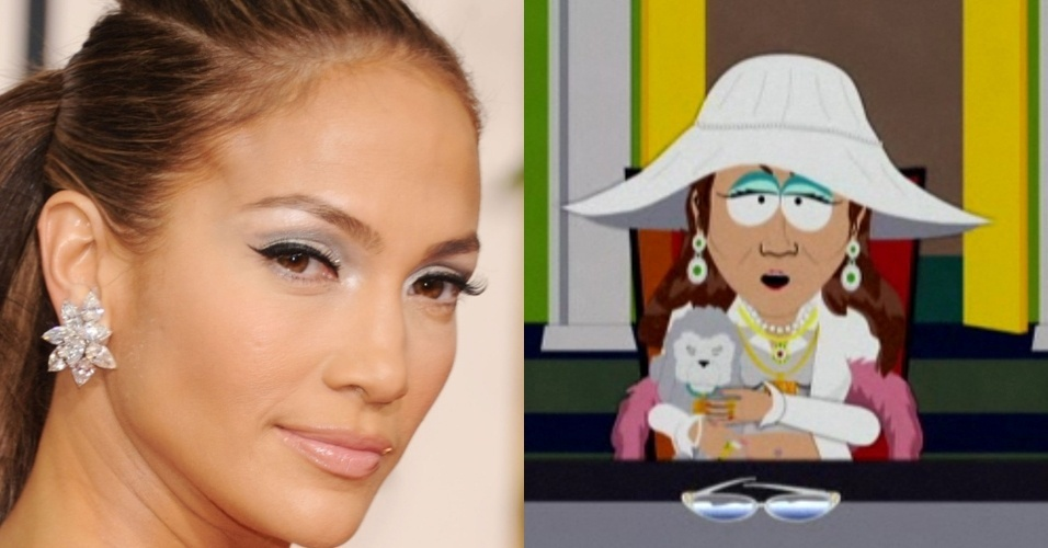 Jennifer Lopez  homenageada por South Park (13/8/12)