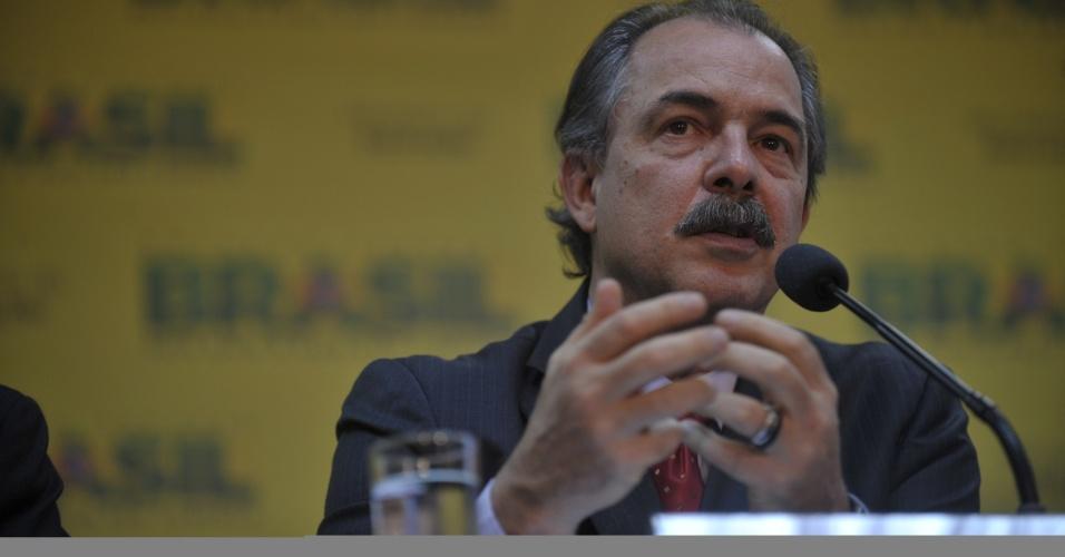14.ago.2012 - O ministro da Educação, Aloizio Mercadante, concede entrevista nesta terça-feira (14), na sede do ministério, em Brasília