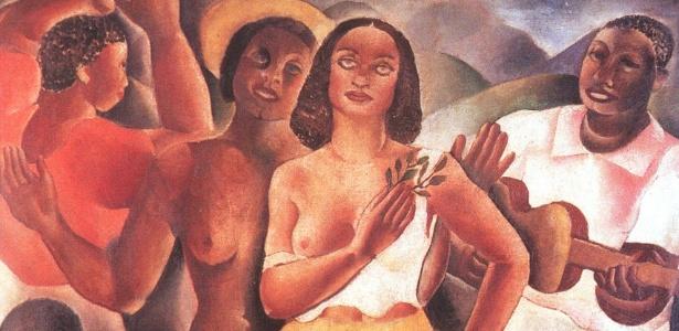 """O óleo """"Samba"""" (1925), de Emiliano Di Cavalcanti, faz parte da coleção do marchand Jean Boghici. Nesta segunda-feira (13), um incêndio atingiu o apartamento de Jean e pode ter destruído esta e outras obras"""