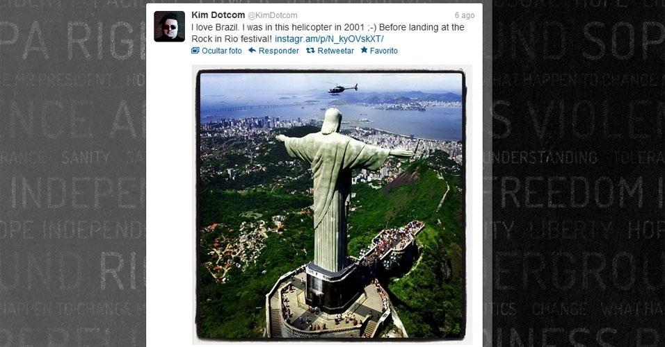 Kim Dotcom Instagram rio cristo