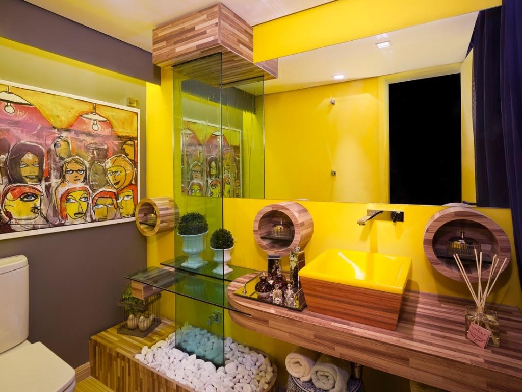 uol decoracao lavabo:Lavabo Feminino assiando por Fernanda Manata para a 6ª edição da