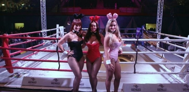 Coelhinhas da Playboy sero as ring girls do torneio WGP Kickboxing de Maring (15/08/2012)