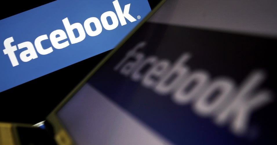 Imagem mostra logo do Facebook