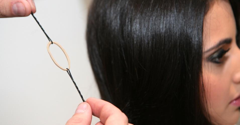 Imagem passo a passo make e cabelo Sheraton