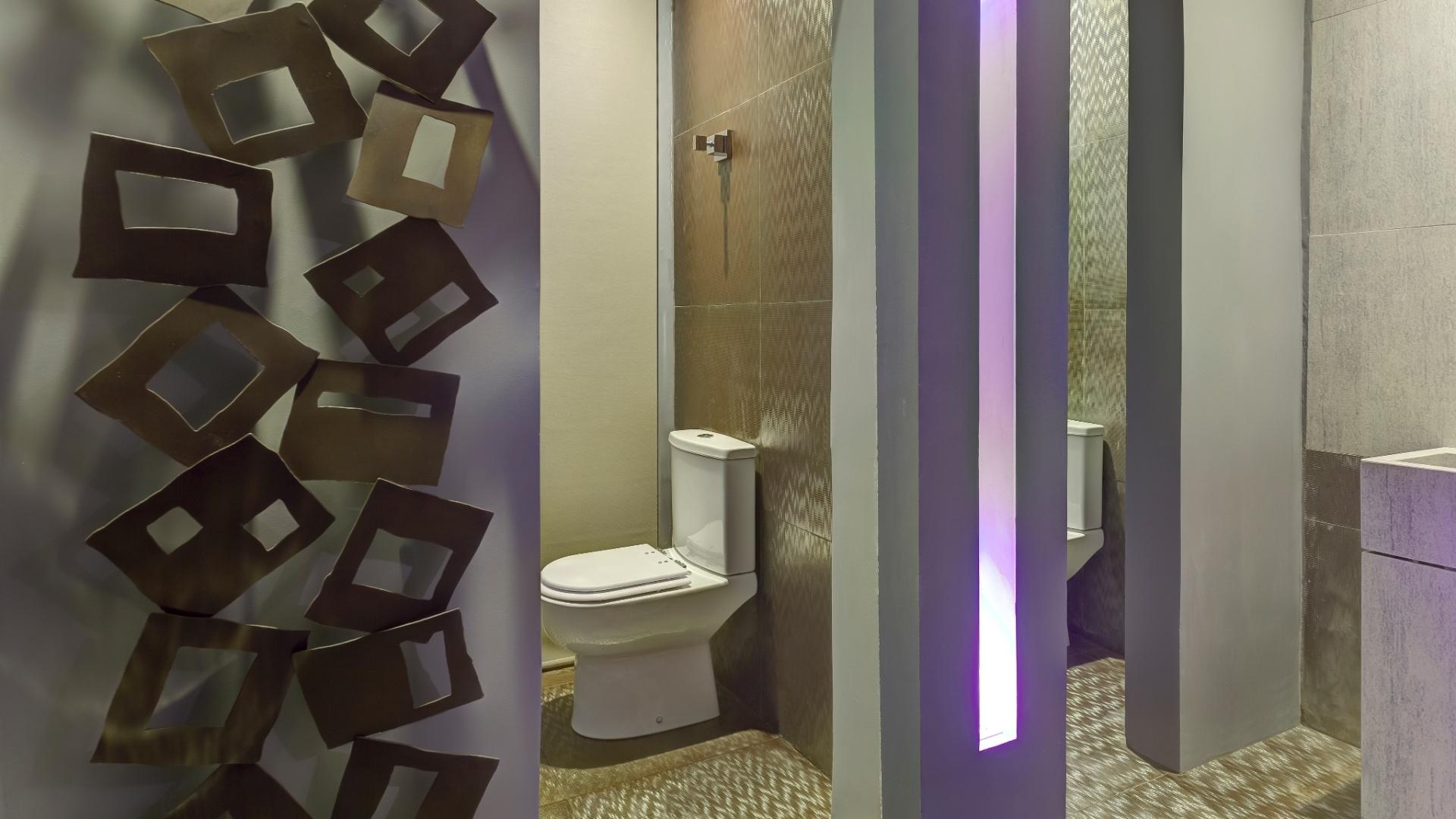 uol decoracao lavabo:Lavabo da Escada, projetado por Wanessa Gomes e Rafael Medeiros para a
