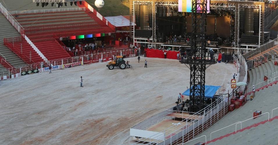 16.ago.2012 - Arena da Festa do Peão de Barretos, no interior de São Paulo