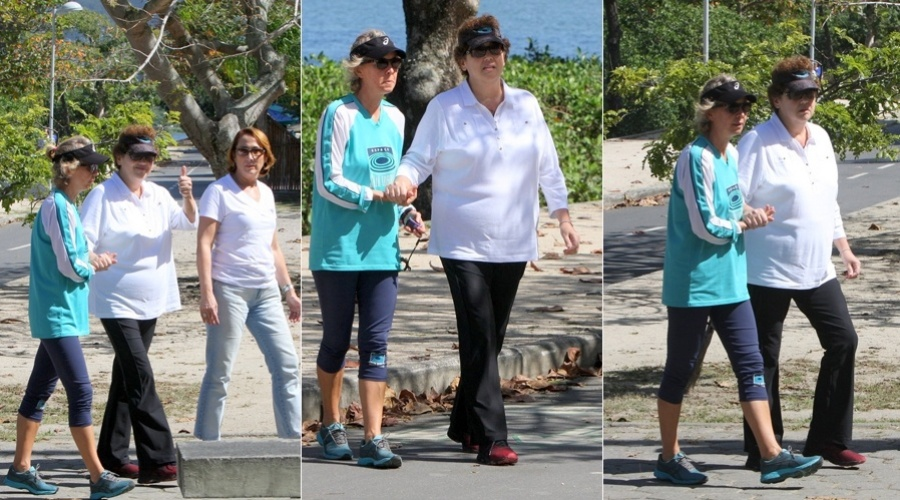 Claudia Jimenez passeou pela Lagoa Rodrigo de Freitas, zona sul do Rio (16/8/12)