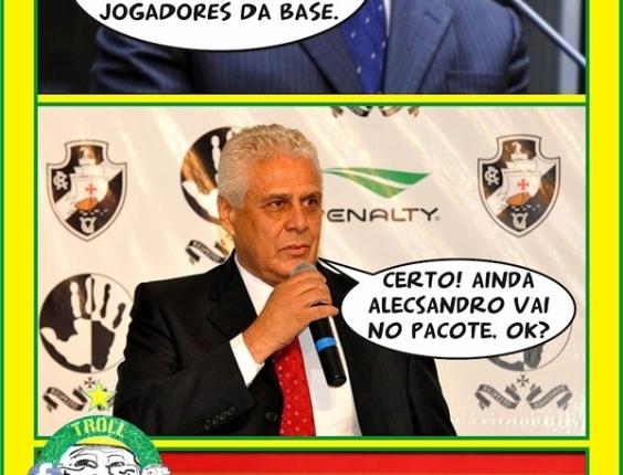 Corneta FC: Dinamite tenta negociar dívida com Romário