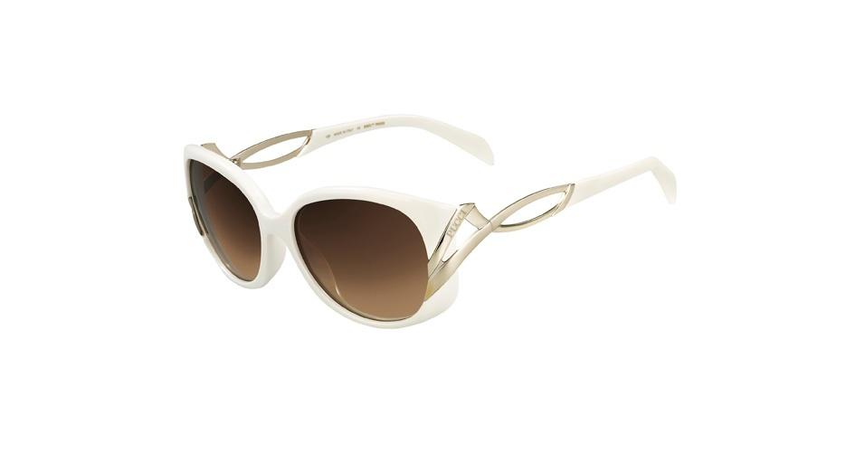 Dourado e branco são as cores da vilã. Óculos Emilio Pucci; R$ 999, na Marchon (SAC: 0800-707-1516). Preço pesquisado em agosto de 2012 e sujeito a alterações