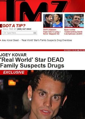 Ator Joey Kovar foi encontrado morto na casa de uma amiga (17/8/2012)