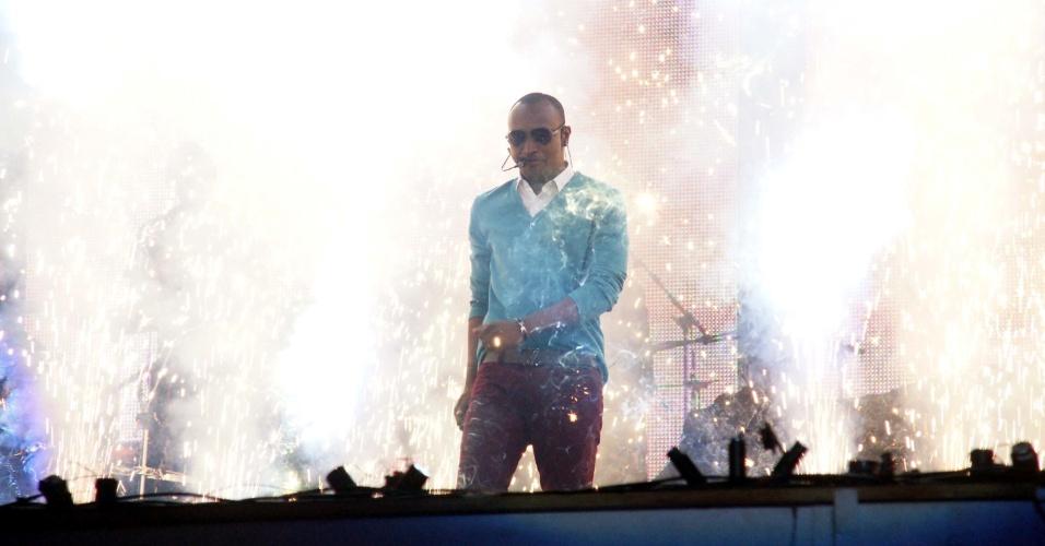 O cantor Thiaguinho abriu a Festa do Peão de Barretos 2012 (16/8/12)