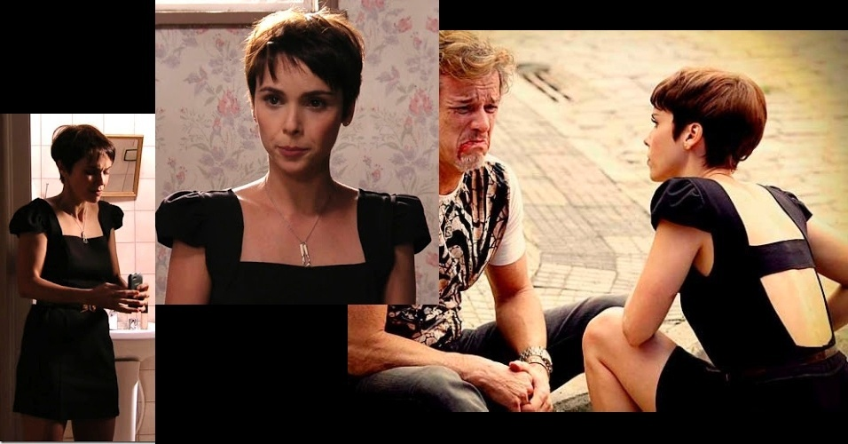 O vestido preto usado por Nina (Débora Falabella) foi o sétimo colocado da lista. O modelo com decote nas costas é da loja Dress To (www.dressto.com.br)