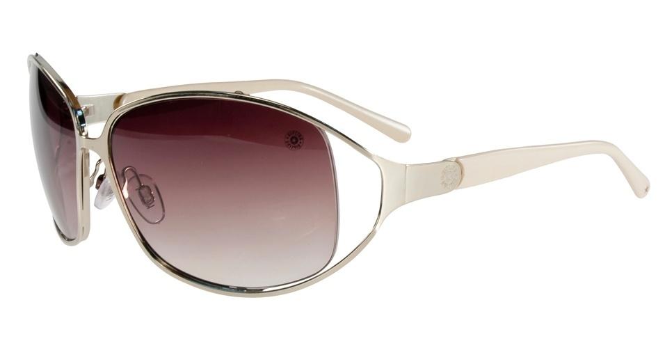 Óculos com laterais vazadas; R$ 290, na Kipling (SAC: 0800 703 9444). Preço pesquisado em agosto de 2012 e sujeito a alterações