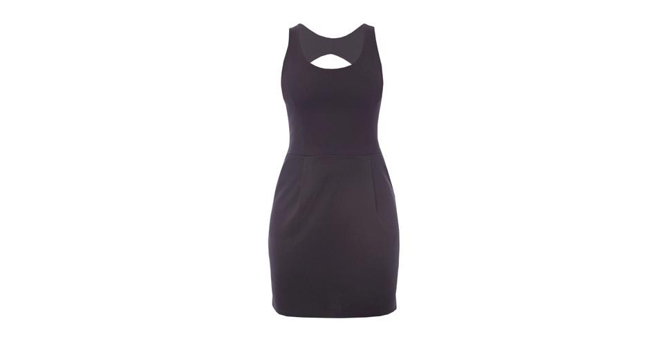 Para um look fatal, como o de Nina (Débora Falabella), invista em um vestido preto estruturado, com decote nas costas. Este modelo custa R$ 169,90 e é da Equus (www.equus.com.br). Preço pesquisado em agosto de 2012 e sujeito a alterações