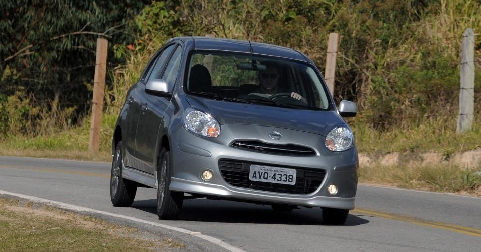 Saídas de frente (subesterço), como esta da foto, são comuns de acontecer no Nissan March com motor 1.6