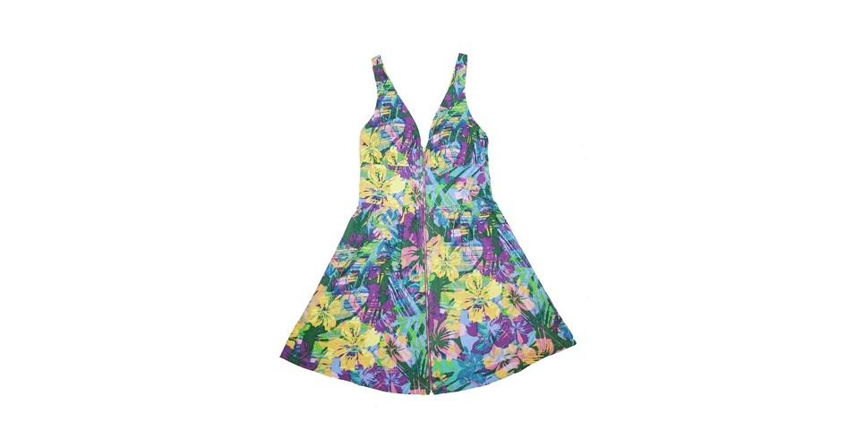 Vestido com estampa floral tropical; R$ 215,99, na Trimix (www.trimix.com.br). Preço pesquisado em agosto de 2012 e sujeito a alterações