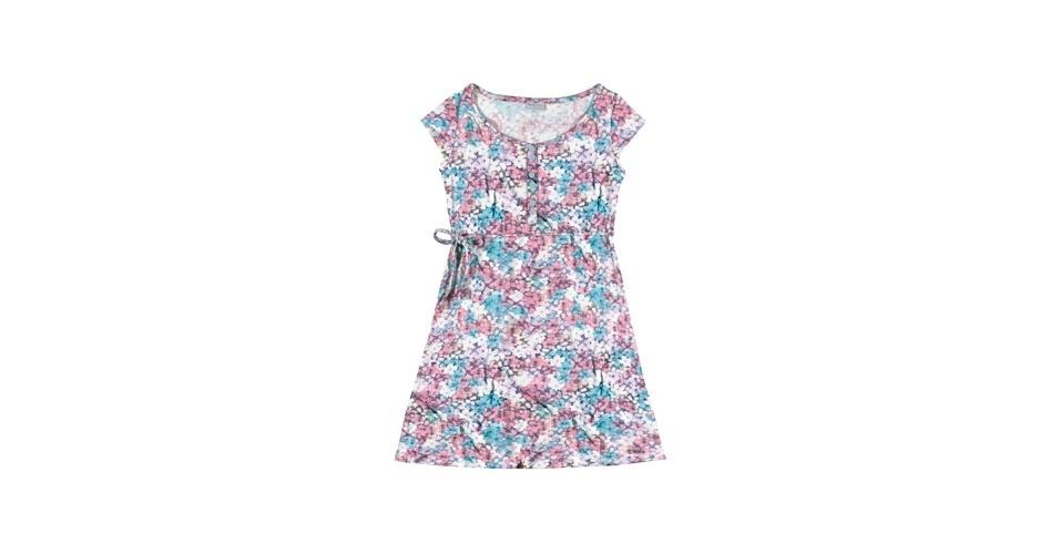 Vestido floral em azul e rosa; R$ 69,90, da Mineral, na One Store Marisol (www.onestore.com.br). Preço pesquisado em agosto de 2012 e sujeito a alterações
