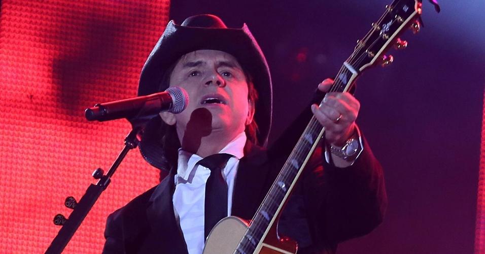 A dupla Chitãozinho e Xororó se apresenta no terceiro dia da 57ª edição da Festa do Peão de Barretos, no interior paulista (18/8/2012)