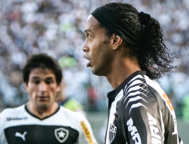 Ronaldinho Gaucho durante vitória do Atlético-MG sobre o Botafogo por 3 a 2 (19/8/2012)