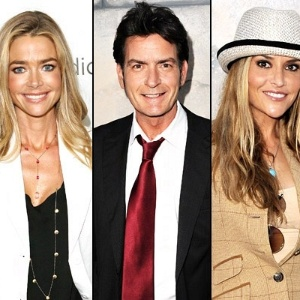Denise Richards, Charlie Sheen e Brooke Mueller (20/8/2012)
