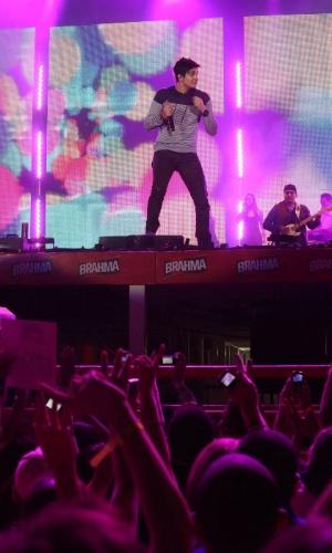 O cantor Luan Santana se apresenta no quarto dia da 57ª edição da Festa do Peão de Barretos, no interior paulista. O evento acontece até o dia 26 de agosto (19/8/12)