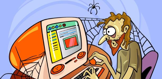 O perigo do internauta obsessivo é se desprender do mundo real para viver num universo paralelo