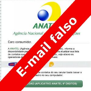 Falso e-mail pede que usuários baixem falso aplicativo da Anatel que insere nono dígito