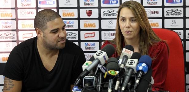 Adriano não recebeu a quantia prometida pela presidente Patricia Amorim em contrato