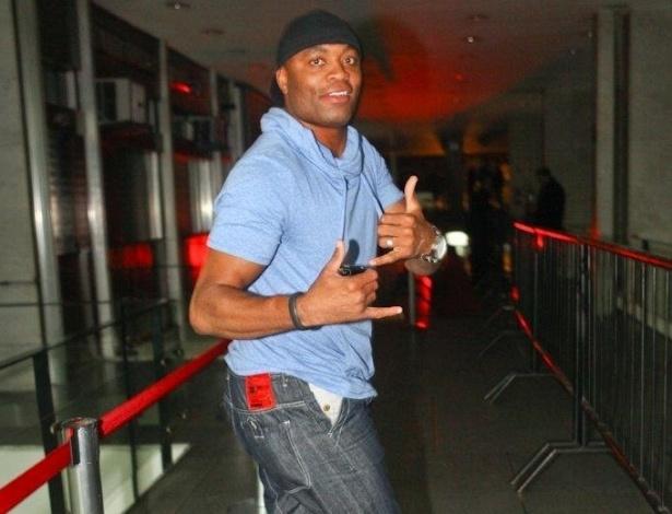 Anderson Silva promoveu uma festa na noite de terça-feira em São Paulo para comemorar suas últimas conquistas