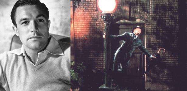 O ator Gene Kelly e a cena de Cantando na Chuva que o consagrou