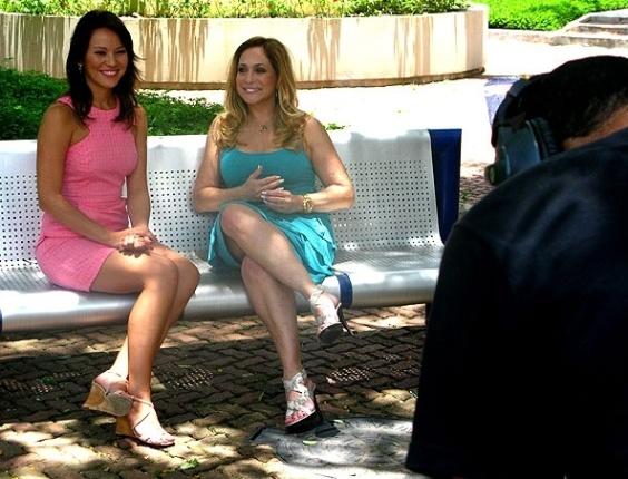 Susana Vieira e a repórter do