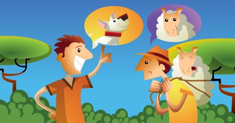 Três ladrões de ovelha, história do folclore