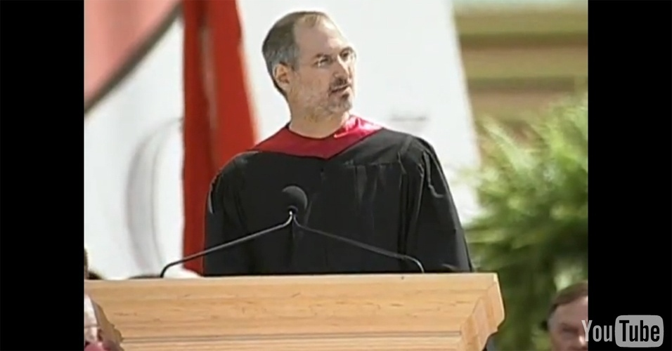 5º lugar: A famosa aula inaugural do ex-presidente da Apple, Steve Jobs (1955-2011), na Universidade de Stanford