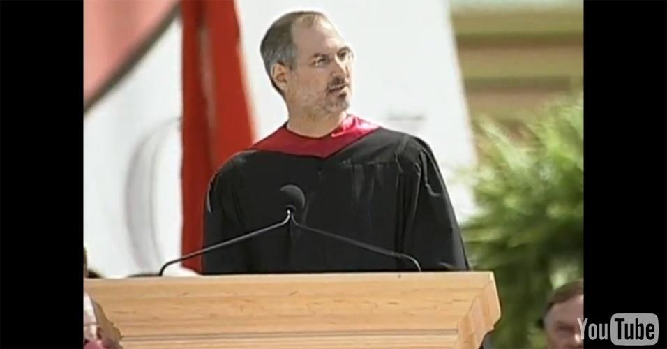 5º lugar: A famosa aula inaugural do ex-presidente da Apple, Steve Jobs (1955-2011), na Universidade de Stanford